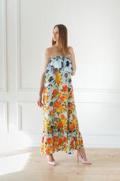 romantické dlhé šaty modré