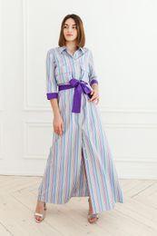 dlhé šaty pásik