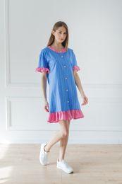 košeľové šaty modré