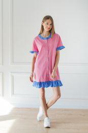 košeĺové šaty ružové