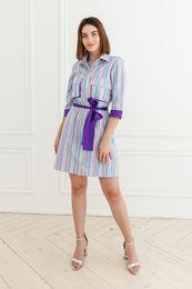 krátke šaty pásik