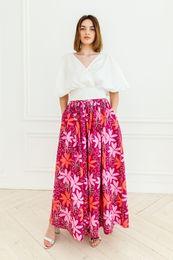 kvetovaná maxi sukňa