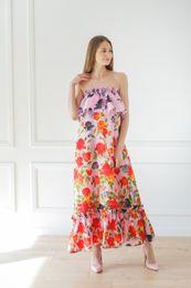 romantické dlhé šaty ružové
